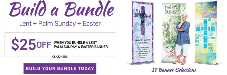 Bundle Lent Palm Sunday Easter Banners